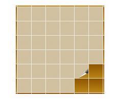 Adhesivo para azulejos para baño y cocina – 10 x 10 cm – Beige Brillante – 160 adhesivos para azulejos para pared azulejos