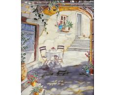 YH-Arts 11 x 35,5 cm Mediterráneo Patio Art baldosas, cerámica