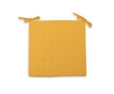 Soleil docre Paon - Cojín para Silla (poliéster, 40 x 40 x 5 cm), Color Amarillo