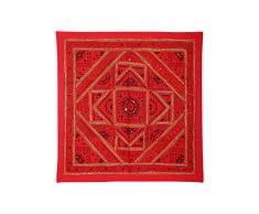 Apliques de pared Decoración del hogar Espejo Patchwork Red Wall Hanging Tapestry