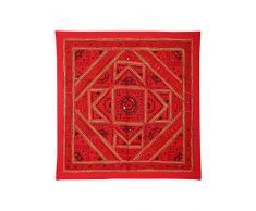 Apliques de pared Decoración del hogar Espejo Patchwork Red Wall Hanging Tapestry
