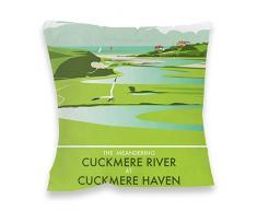 Dave Thompson Río Cuckmere, Sussex Impresión cojín, Multicolor
