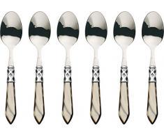 BUGATTI ALCOM-N4207 Aladino 6 Piezas Juego de Cubiertos cucharillas de Acero/ABS marrón 21 x 18 x 3 cm