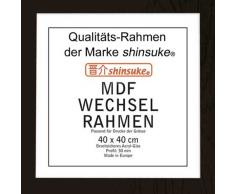 Empire 554291 - Marco para póster (43 x 43 cm, para pósteres de 40 x 40 cm, perfil con vidrio acríligo, aglomerado imitación de madera), color negro