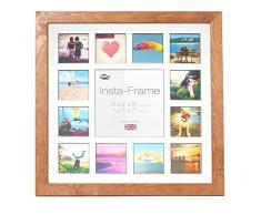 Inov8 16 x 40,64 cm Insta-Frame Kayla Marco para Instagram 13/de Estampado a Cuadros de Fotos con paspartú Blanco y Negro con Borde, 2 Unidades, Roble Claro