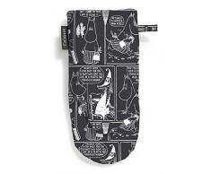 FINLAYSON ® cómic diseño de guante para horno, algodón, negro, 15 x 30 cm