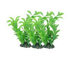 Sourcingmap Cerámica Base artificial planta, 5.9-inch, 3 piezas, verde
