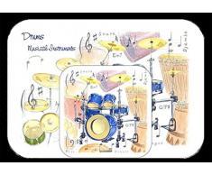 Little Snoring tarjetas y regalos manteles individuales y posavasos, diseño de tambor, multicolor