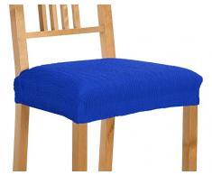 Martina Home Emilia Pack de Fundas de Asiento para Silla, Tela, Azul Eléctrico, 40 a 50 cm, 2 Unidades