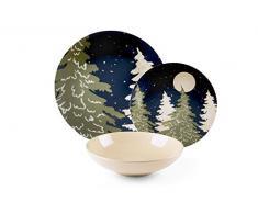 Excelsa nocturno vajilla de 18piezas, Porcelana y cerámica, Multicolor