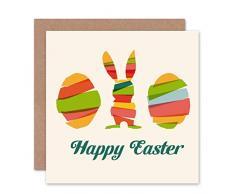Wee Blue Coo - Tarjeta de felicitación, diseño de Huevo de Pascua