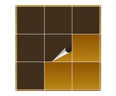 FoLIESEN Adhesivo para Azulejos para baño y Cocina–20x 20cm–Marrón Mate–10Adhesivos para Azulejos para Pared Azulejos
