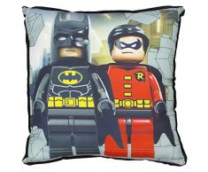 LEGO DC Super Heros Kapow Cojín cuadrado, poliéster, multicolor