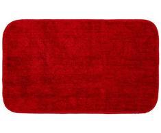 Sealskin Alfombra de Baño Antideslizante Absorbente Doux, 50 x 80 x 1 cm, Poliéster, Rojo