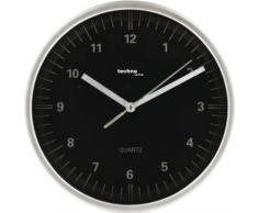 TechnoTrade WT-6700, Negro, Plata, 1x AA - Reloj de pared