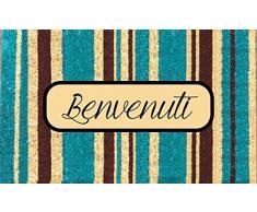 Gift Company Felpudo de Bienvenida, PVC y fibra de coco, multicolor, 75 x 1.5 x 45 cm