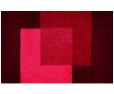 Spirella colección Crossover, Alfombrilla de Ducha 55 x 65,100% Acrílico,Rojo