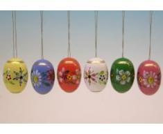Frieder & Andre Uhlig - Huevos de Pascua decorativos (pintados a mano), diseño de flores