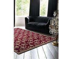 Benuta Alfombra Kaleido Rosa 160x 230cm | Moderna Alfombra para salón y Dormitorio