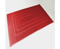 Douceur dIntérieur - 1800506, Tapete De Bano, 50 X 85 Cm, Vitamine, Felpa 1000G Liso, Rojo
