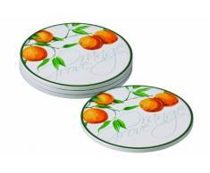 Premier Housewares - Posavasos (4 unidades), diseño de naranjo