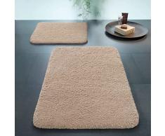 Spirella 60 x 90, Marrón colección Lamb, Alfombrilla de Ducha, 100% Polyester-Microfibra