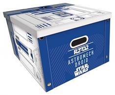 Star Wars SR72598 - Caja de almacenaje R2-D2, Multicolor, 24 x 37 x 37 cm
