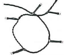 Naeve Leuchten 5051326 - Cadena de luces led (plástico, longitud del cable 10 m, longitud de la cadena de luces 16 m), color verde