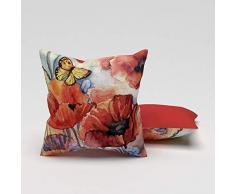 Eren Home - Cojín Multicolor, 43 x 43 cm