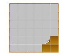 Adhesivo para azulejos para baño y cocina – 10 x 10 cm – Color GRIS CLARO Mate – 160 adhesivos para azulejos para pared azulejos