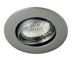 CristalRecord Zamak - Foco empotrable para el techo, color gris
