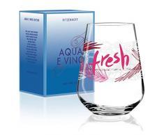 Virginia Romo RITZENHOFF Aqua e Vino - Copa de agua y vino (cristal, 540 ml), diseño moderno