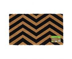 JVL - Felpudo de Entrada de Fibra de Coco con Reverso de látex, Color Negro, látex Fibra de Coco, marrón, Talla única