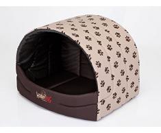 HOBBYDOG prompter perro cama, tamaño 4, color beige con patas impresión