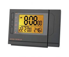 Emos - Original de proyección de alarma digital delgada radio reloj despertador pcr 156