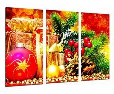 Cuadro Fotográfico Adornos Navidad y Regalos, Arbol Navideño Rojo Tamaño total: 97 x 62 cm XXL