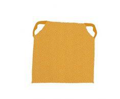 Soleil docre Paon - Cojín para Silla (poliéster, 40 x 40 cm), Color Amarillo