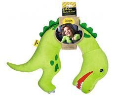 Moses Dino Tyrannosaurus-Rex - Almohada Cervical de Peluche para niños, Ideal para Viajes Largos