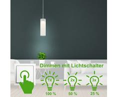 Briloner Leuchten regulable LED lámpara colgante, lámpara de techo Salón, 400 lm, metal, integrado, 5 W, cromo, 120 x 10.5 x 120 cm