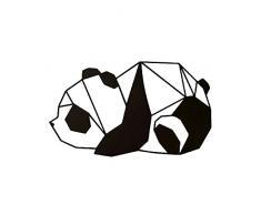 Decoración de Pared en Metal Panda Negro–Art, Casa, Déco–para Estar, Escritorio, Pared