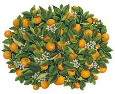 Caspari Naranjas Die Cut manteles Individuales, Naranja, Juego de 4