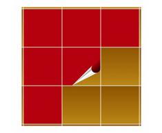 Adhesivo para azulejos para baño y cocina – 20 x 20 cm – Color Rojo Mate – 20 adhesivos para azulejos para pared azulejos
