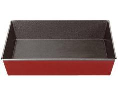 imf Bandeja Horno, Acero, Rojo, 36 x 27 x 6 cm