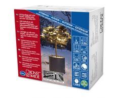 Konstsmide 6622-117 - Guirnalda luminosa micro led (con aislamiento, temporizador de 9 horas, 120 diodos de luz banca cálida, transformador exterior de 24 V, cable suave negro)