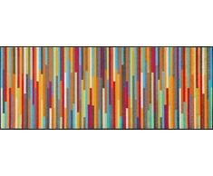 Wash&Dry Mikado Stripes Felpudo, Acrílico, Multicolor, 75x190x0.7 cm