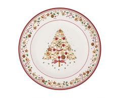 Villeroy & Boch - Plato de presentación Winter Bakery Delight, plato decorativo para servir de Premium Porcelain, rojo/varios colores, 32 cm