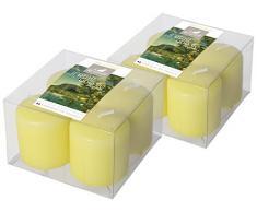 Charlando 01189992 Marquesas 2 Lotes 4 perfumadas velas TP Anis Amarillo Pequeño Modelo / Isle Of Citrus