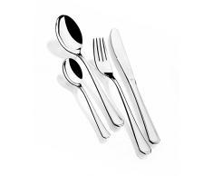Monix Venecia - Set 75 piezas cubiertos de acero inox 18/10 con estuche Nogal (12 comensales)