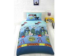 Homespace Direct Superhéroe Junior/Cama Cuna Juego de cama infantil Kid s niños ropa de cama juego de cama