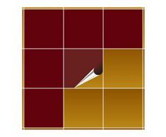 Adhesivo para azulejos para baño y cocina – 20 x 20 cm – rojo púrpura – 100 adhesivos para azulejos de pared